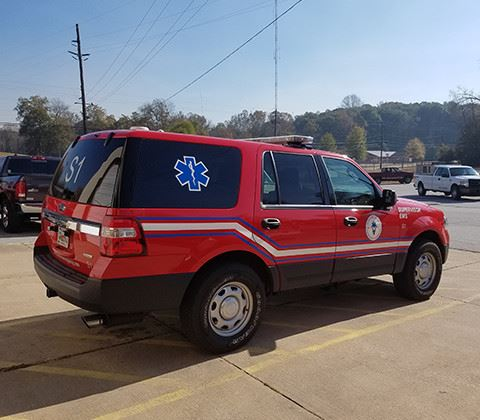 Parked EMS SUV