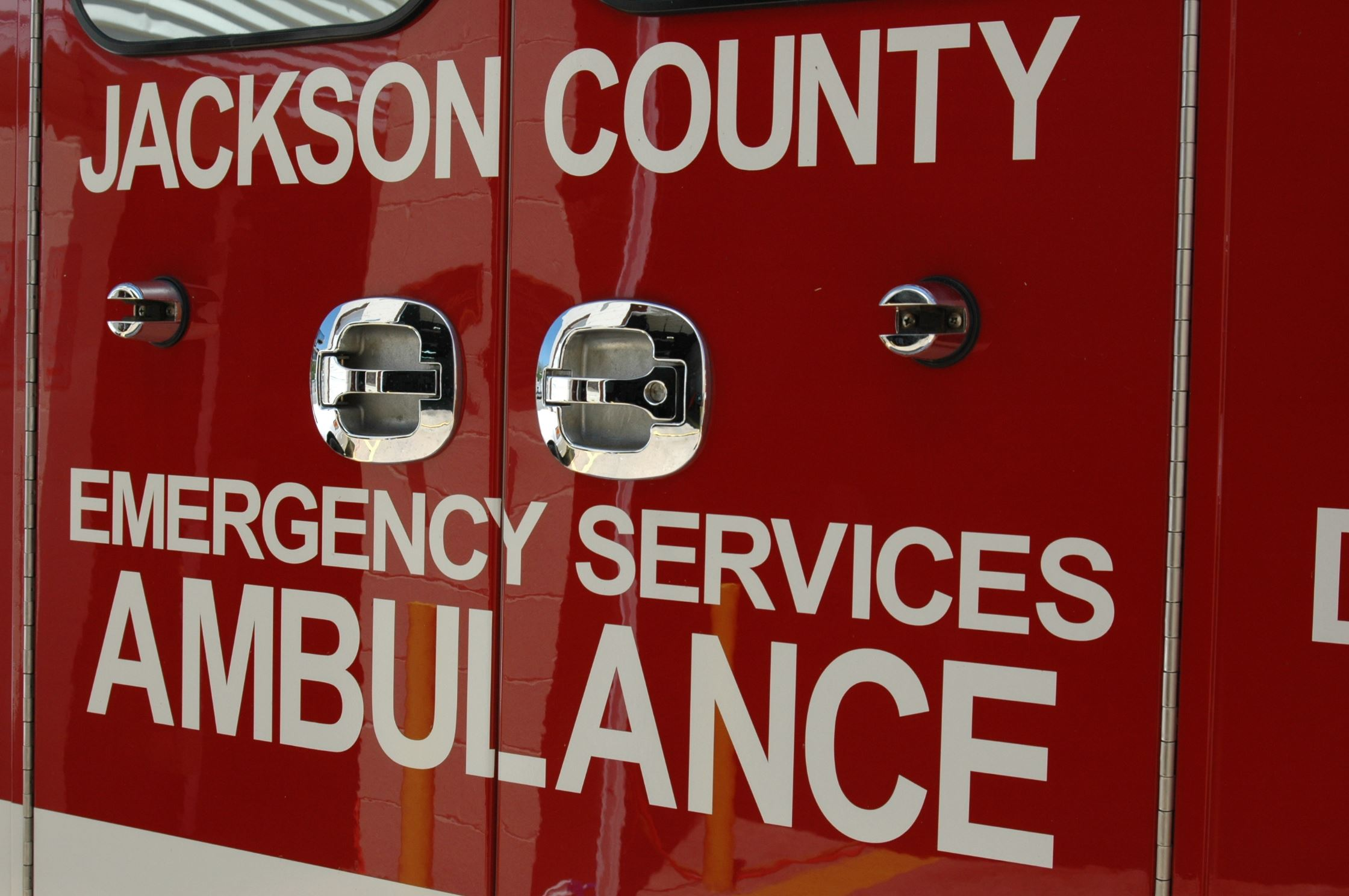 Jackson County Emergency Services Ambulance Back Doors