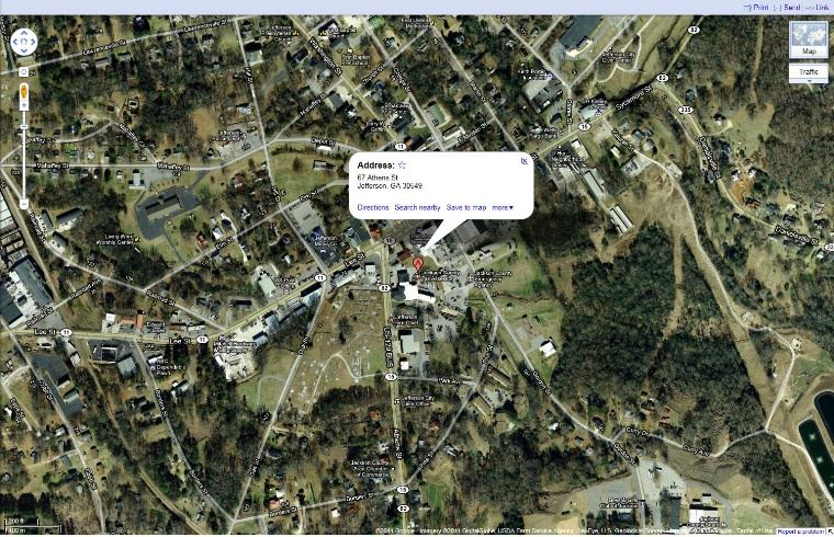 View the Jackson County Administration Building Aerial Google Map.